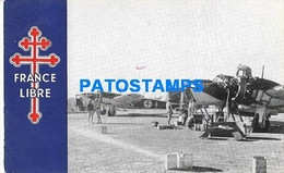 162579 AVIATION AVION FRANCE LIBRE AIR FORCE IN AFRICA AIRPORT POSTAL POSTCARD - Non Classificati