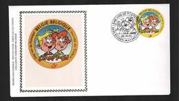 FDC Zijde : Nr 3023:  Stempel: 3630 Eisden Maasmechelen - 2001-10