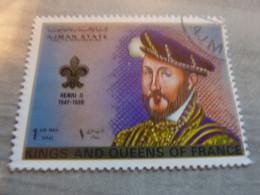 AJMAN - Trucial States - Henri II  - Kings And Queens Of France - 1riyal - Air Mail - Oblitéré -  Année 1972 - - Ajman