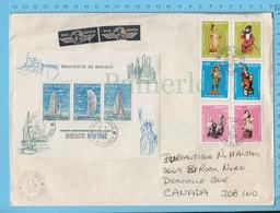 Monaco Très Large Enveloppe - 1985, Principauté De Monaco, + 6 Galea De 1983 Pte Monaco -> Deauville Canada - Covers & Documents
