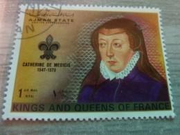 AJMAN - Trucial States - Catherine De Médicis - Queen Of France - 1riyal - Air Mail - Oblitérés -  Année 1972 - - Ajman