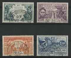 WALLIS ET FUTUNA N° 66 à 69 Cote 60 € Oblitérés Exposition Coloniale De Paris. Vendu à 14 % De La Cote. - Used Stamps