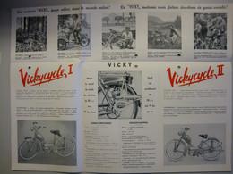VICKY Motor  1951 / Brochure Nederlandstalig Et En Francais /  Side Motor Rue Josaphat Bruxelles - Motorfietsen