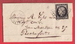 N°3 GRILLE LA TREMBLADE CHARENTE INFERIEURE MARITIME POUR ROCHEFORT INDICE 16 - 1849-1876: Klassieke Periode