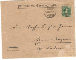 Switzerland 1899, Letter Sent From Basel On 08/14/1899 - Lettres & Documents