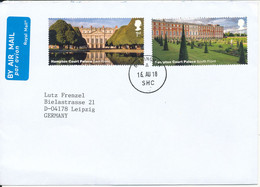 Great Britain Cover Sent To Germany 16-8-2018 Hampton Court Stamps Very Nice Cover - Covers & Documents