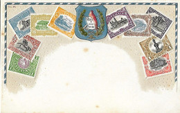 GUATEMALA - Carte Gaufrée - Représentation Timbres - Timbre - Guatemala