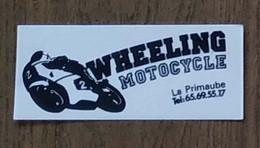 AUTOCOLLANT STICKER - WHEELING MOTOCYCLE - LA PRIMAUBE - MOTO - Autocollants