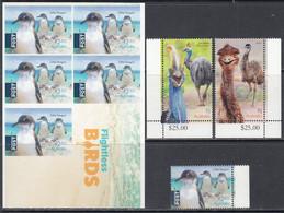 2019 Australia Flightless Birds Penguins Complete Set Of 3 + Booklet MNH @ Below Face Value - Mint Stamps
