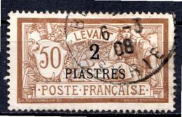 LEVANT - (Bureaux Français) - 1902-20 - N° 20 - 2 Pi. S. 50 C. Brun Et Gris - (Type Merson) - Usati