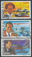 NB - [300169]TB//O/Used-c:6e-MALI - N° 617/19, Mermoz Et Avions, Obl Et */mh, 2 Timbres Sans Gomme, C:6? - Mali (1959-...)