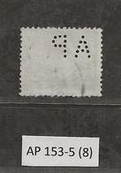Timbre Perforé De France  AP 153-5 Indice 8 - Perfins