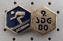 Skiing Race Downhill Mojstrana  1980 Slovenia Pin - Sport Invernali