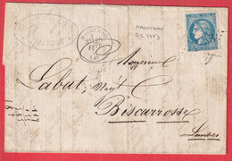 N°46B GC 1753 HAGETMAU LANDES POUR BISCAROSSE SIGNE MAURY TTB - 1849-1876: Klassik