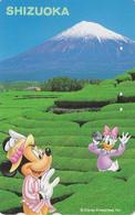 Télécarte JAPON / 110-178076 - DISNEY - Série Voyage N° 10 - DAISY MINNIE Photo Mont Fuji 2 - JAPAN Free Phonecard - Disney