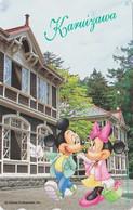 Télécarte JAPON / 110-178884 - DISNEY - Série Voyage N° 11 - KARUIZAWA - MICKEY MINNIE  - JAPAN Free Phonecard - Disney