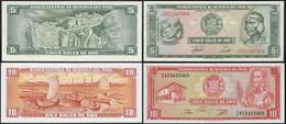 Peru 5 + 10 Soles Banknoten 1974 + 1976 Pick 99 + 112 UNC (1)    (14308 - Autres - Amérique
