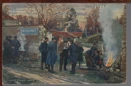GUERRE 1914 1918 - SCÈNE D'AVANT POSTE - Publicité DUBONNET - Guerre 1914-18