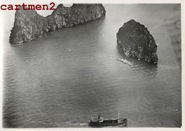 """PHOTOGRAPHIE ANCIENNE : VIETNAM BAIE D'ALONG EPAVE DU BATEAU """" CAP LAY """" NAUFRAGE BOAT ACCIDENT SHIP - Vietnam"""