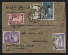 Belgian Congo 1935 Cover To Berlin Bearing Air Mail 2f Blue (COB PA3), Plus 50c Black And 1fr Carmine (COB PA7/8) - Correo Aéreo: Cartas