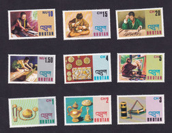 Bhutan  1975 Jewelry Coffee Pot ,mat Maker SCOTT No.184-192 , I202106 - Bhutan