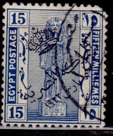 Egypt, 1922, Egyptian History, Overprinted, 15m, Used - Used Stamps