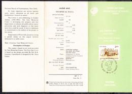 INDIA, 1991, STAMPED BROCHURE WITH INFORMATION, FOLDER, Golden Jubilee Of Tata Memorial Centre Hospital, Bombay, - Brieven En Documenten