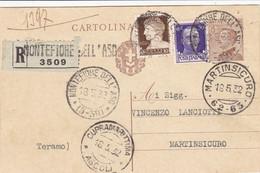 Montefiore Dell'Aso (Ascoli) Frazionario 5-39 Del 1932 Splendido - Marcofilía