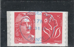 FRANCE 2006 GANDON  ADHESIF PAIRE OBLITERE  - P3977 OU P96 - Adhesive Stamps