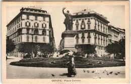 51zk 930 CPA - GENOVA - PIAZZA CORVETTO - Genova