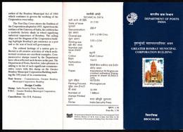 INDIA, 1993, BROCHURE WITH INFORMATION, FOLDER, Centenary Of Bombay Municipal Corporation Building, - Brieven En Documenten