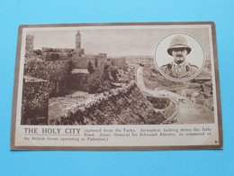 The HOLY CITY Captured From Tnhe Turks JERUSALEM / Sir Edmund Allenby - Anno 19?? ( Zie/voir/See Photos For DETAIL ) ! - Israele