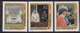 Antigua & Barbuda 1982 Diana Ovpt Sc 798, 800, 804 Mint Never Hinged - Antigua And Barbuda (1981-...)