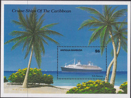 Antigua & Barbuda 1989 Cruise Ship Sc 1195 Mint Never Hinged - Antigua And Barbuda (1981-...)