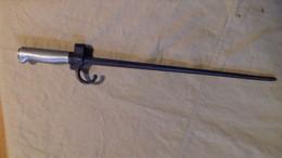 BAÏONNETTE LEBEL  RELIQUE 14/18 FRANCE   WW1FRENCH  BAYONET DANS L'ETAT 485 MM - Knives/Swords