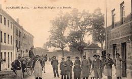42 Jonzieux La Place De L'Eglise Et La Bascule - Other Municipalities