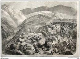 Expédition Du Kabylie - Bivouac De Beira M'ta Allel - Page Original 1856 - Historical Documents