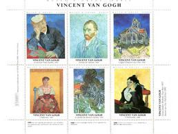 Vincent Van Gogh - Bloc De 4 Vignettes Différentes Sur Tableaux De Van Gogh - Otros