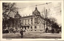 CPA Potsdam In Brandenburg, Postgebäude, Straßenpartie - Otros