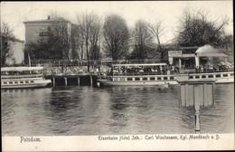 CPA Potsdam In Brandenburg, Eisenbahn Hotel, Dampferanlegestelle - Otros