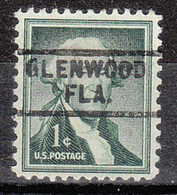 USA Precancel Vorausentwertung Preo, Locals Florida, Glenwood 729 - Precancels