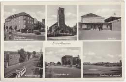 Essen - Altenessen Str.: TRAM/STRAßENBAHN, OLDTIMER AUTO/LKW Gladbeckerstr., Bahnhof, Stadion 'TuS Helene', Kirche - PKW