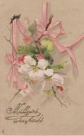 """C. KLEIN . Branche D'EGLANTINES Et Rubans Roses """"Meilleurs Souhaits"""" (Edit. Raphaël TUCK  """"Un Mot à La Poste"""" N° 417) ) - Klein, Catharina"""