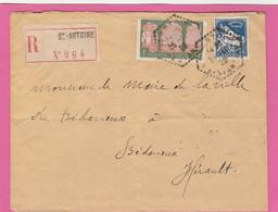 Algérie - Lettre De Saint Antoine (Recommandée) Vers Bédarieux 1929 - Storia Postale