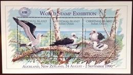 Christmas Island 1990 Abbott's Booby Birds World Exhibition Minisheet MNH - Zonder Classificatie