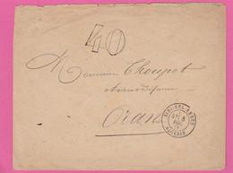 Algérie - Lettre De Sidi Bel Abbés Vers Oran 1877 - Taxe - 1877-1920: Periodo Semi Moderno