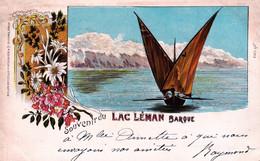 Suisse -  Souvenir Du Lac Leman - Barque - Rajout De Brillants - Unclassified