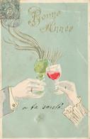 BONNE ANNEE #27012 VERRE DE VIN  ABSINTHE ALCOOL TRINQUENT A TA SANTE GAUFREE - Nouvel An