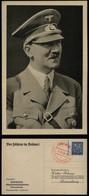 P0020 - Propaganda , DR Postkarte Adolf Hitler , Der Führer In Brünn: Gebraucht Mit Sonderstempel Brünn 17.3.1939 - Briefe U. Dokumente