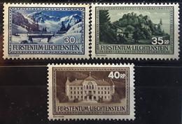 LIECHTENSTEIN 1935, 3 Timbres Serie Courante Yvert 131 / 133 , Neufs MNH Cote 23 Euros - Unused Stamps